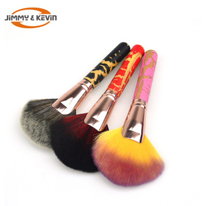 JIMMY&KEVIN Patterned  Handle Soft Hair Makeup  Brush Set Makeup Blush Brush
