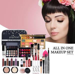 Makeup Set with Eyeshadows Lipstick Concealer Cosmetics Kit for Women Girls POPFEEL ALL IN ONE Makeup Set KIT005