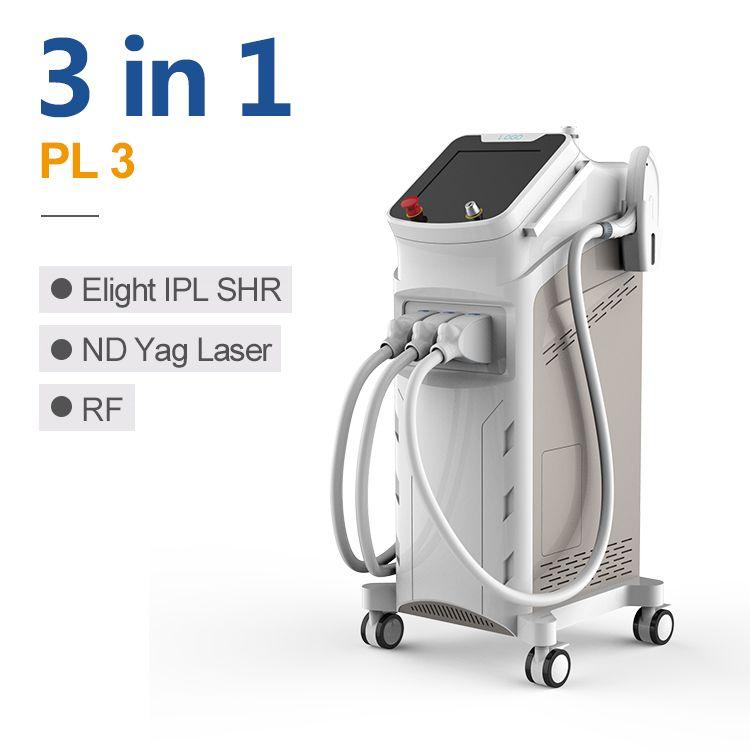 4 in 1 laser IPL + Elight + RF + ND yag laser carbon peeling / ipl laser hair removal