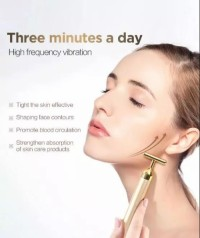 Multi-Functional Replaceable Golden Massage Beauty 24k Bar