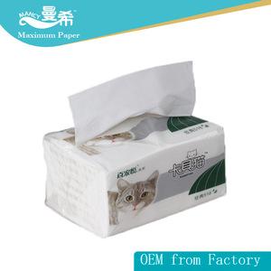 100% natural cotton super soft facial tissue