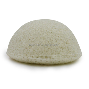 2018 Hot sale 100% Natural wholesale french green clay konjac face sponges