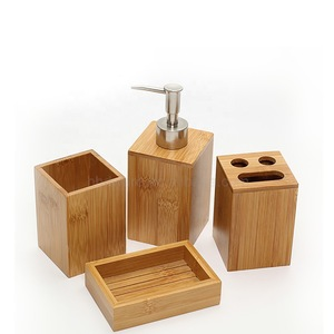 bamboo bathroom set,bamboo soap dish,and bamboo toothbrush holder and bamboo bathroom accessory set and bamboo soap dispenser