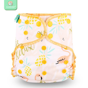 Elinfant new print 3-15kg baby nappy wholesale OEM/ODM reusable washable cloth diapers