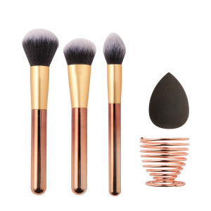 HZM  Hot Sale Instock Makeup brush and Makeup Sponges set Beauty Makeup Tools Set With Package