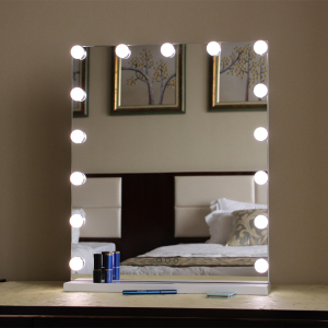 LED Lighted Hollywood Makeup Vanity Mirror Table Top