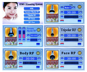 Newest hot sale rf fast vacuum cavitation kim 8 slimming system for body slimming