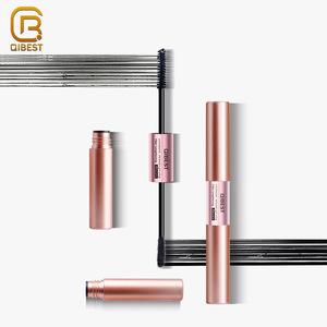 QIBEST Cosmetics Makeup Dual-Ended Double Head Rolled Fibre Eyelash Lengthening Fiber Mascara