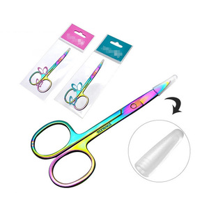 Stainless Steel Eyebrow makeup Eye Brow Scissors Facial Hair Trimmer Grooming Scissors Manicure Scissors