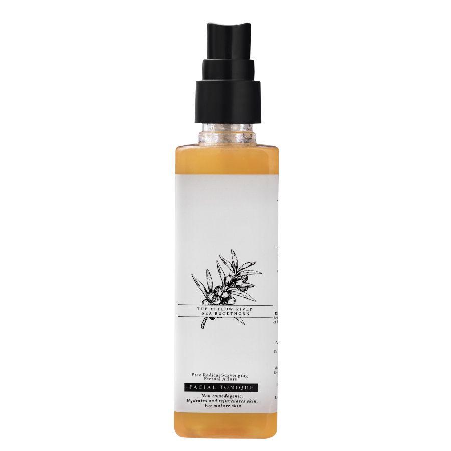 Timeless Beauty Secrets Organic Seabuckthorn Hyaluronic Acid Skin Lightening Face Toner For Dry, Mature, Pigmented Skin