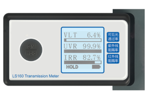 Car window solar film electronic power transmission meter for VLT,UV,IR