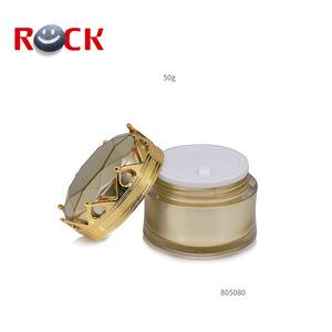 Crown cap plastic cosmetic jar acrylic 50ml cosmetic cream jar