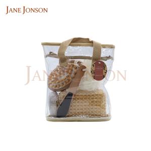 Hot Sale Mesh Massager Scrubber Oval Pumice Stone Sisal Sponge Bath Shower Gel Accessory Gift Set