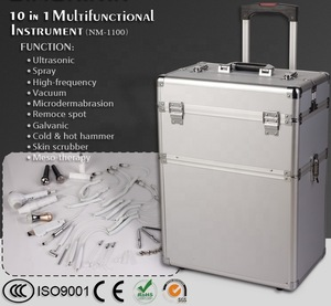 hotsale 10in1 multi-functional beauty instrument with trolley case