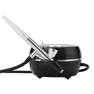Mini Portable Handheld Barber Coloring Red Black White Oval Air Brush Spray Compressor Kit Makeup Airbrush Gun