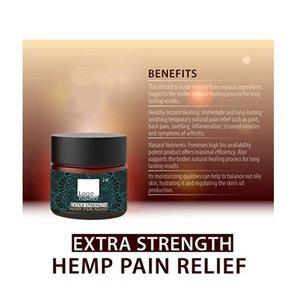 OEM Private Label Organic Hemp Pain Relief Cream 750mg