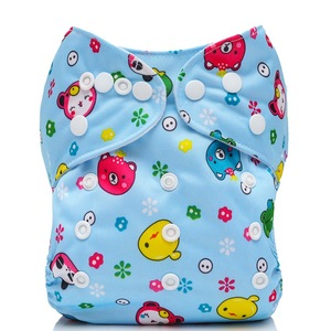 Reusable  bamboo fabric nondisposable cute  sleepy pants  cloth baby diapers/nappies with fastener