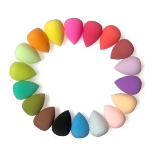 10 Different Colors Dongguan Wholesale Premium Big Size Super Soft Make Up Beauty Sponge Blender 3d Latex Free Makeup Sponge
