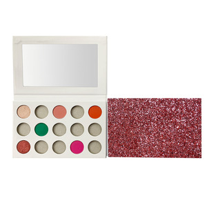 Costom Colors Eye Shadow Palette DIY Empty Makeup Palette Private Label Eyeshadow Palette with Matte Glitter Eyeshadow