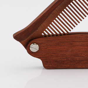 Customized folding beard comb wholesale wood comb | BeauteTrade