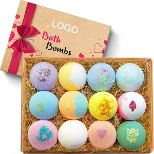 Luxury OEM Costom Private Label Dissolve Quickly Bubbly Oil Spa Packaging Box Organic Natural Fizzy Bath Bombs