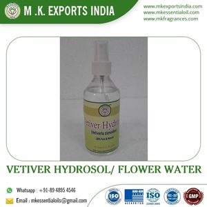 Natural High Quality Vetiver Hydrosol/ Flower Water