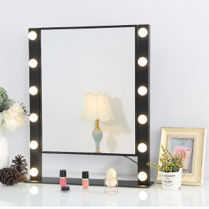 Newest Trending Fashion Hollywood Style Lighted Makeup Vanity Mirror with LED Light Blubs