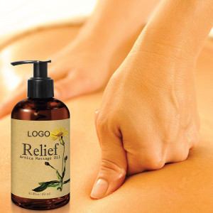 Private Label 100% Natural  Muscle Pain Relief Arnica Body Massage Oil