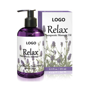 Private Label Natural Lavender Relax Therapeutic Herbal Penis Vagina Sexy Body Massage Oil
