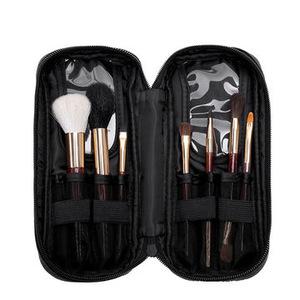 Women travel makeup kits face cosmetic tools acrylic handle makeup brush set with PU case