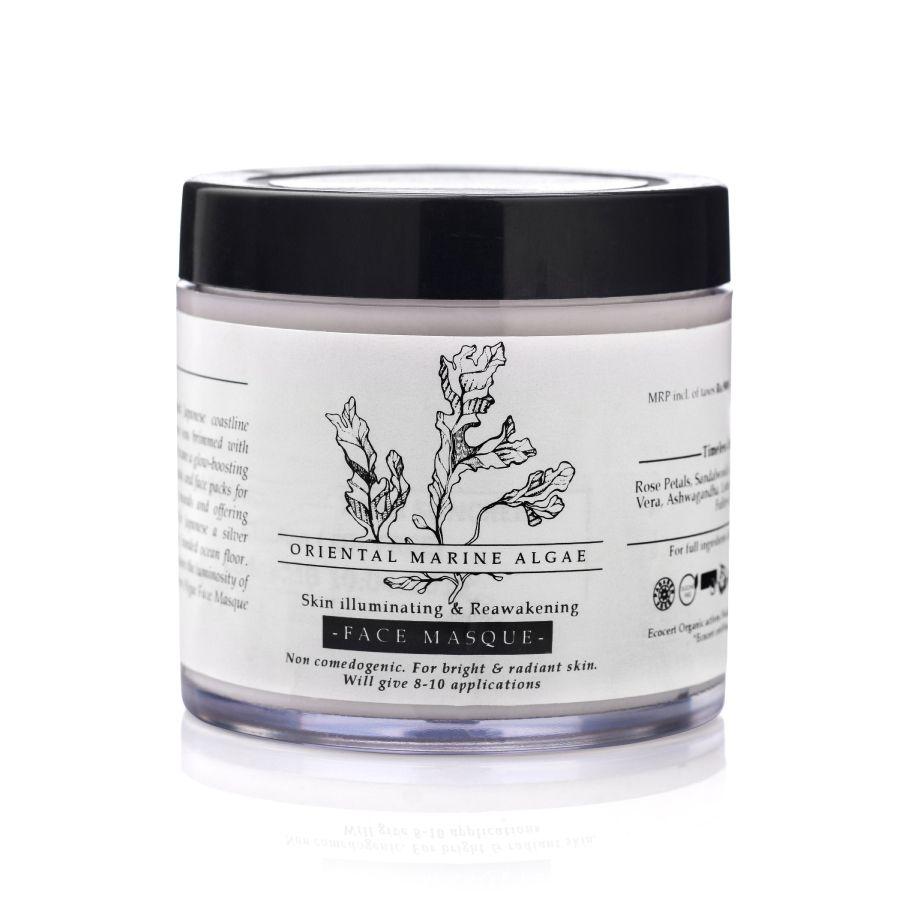 Timeless Beauty Secrets Organic Paraben Free Anti Ageing, Moisturising Illuminating Vit C & Algae Face pack (Vegan)