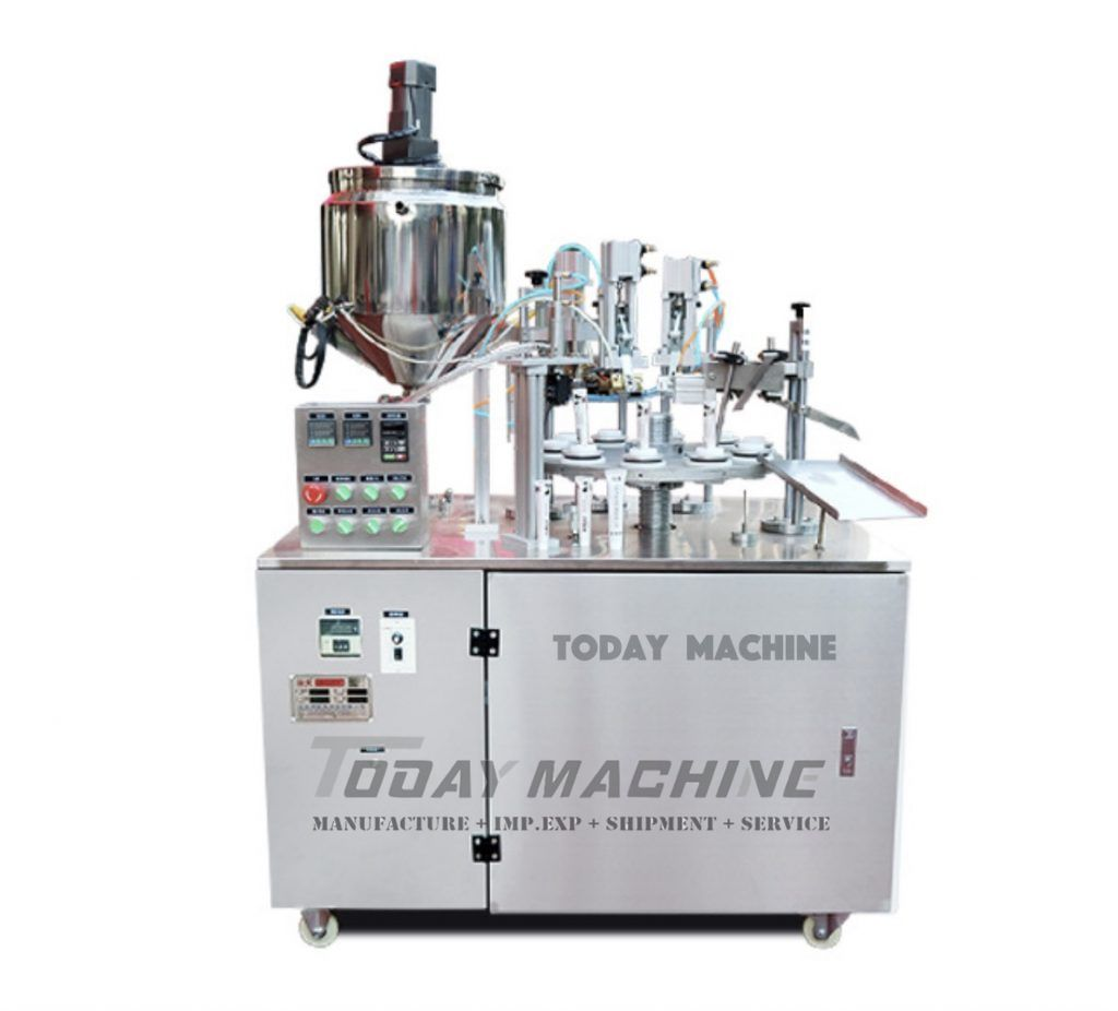 Laminated Tube Filling And Sealing Machine For Cream