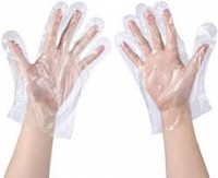Disposable Plastic Gloves – Latex Free. Clear, One Size Fits 100 Pcs for sale