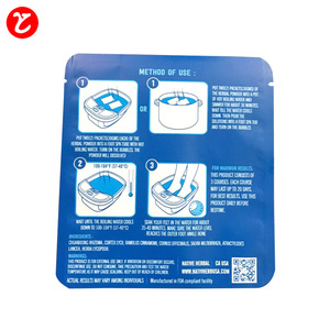 Custom printed aluminum foil bag/ matte finish bag/small heat seal foil bag for green foot bath powder