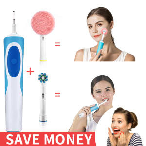 Facial Cleansing brush heads compatible with Oral B