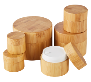 Fast delivery PP Inner Eco Friendly Cosmetic Bamboo Jar 150g