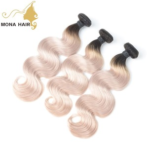 Good looking 2018 New Fashion #1b/grey Body Wave hair extension wholesale