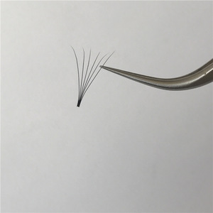 Korean Synthetic fiber 0 07mm C curl 6D Russian Volume