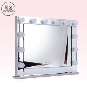 Lighted Vanity Makeup Mirror Frame Hollywood Style Cosmetic Wall Mounted Mirror with 14 Dimmable LED Bulbs