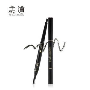 Makeup Waterproof  2in1 Korea Black Eyebrow Pencil With Screw Comb