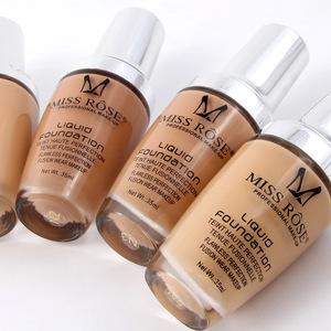 MISS ROSE 7 Colors Moisturizing Professional Makeup Liquid Foundation