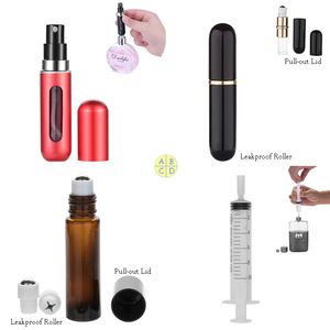 MUB perfume bottle mini refillable leakproof aluminum roller bottle empty travel sized 5ml roll on perfume bottles wholesale