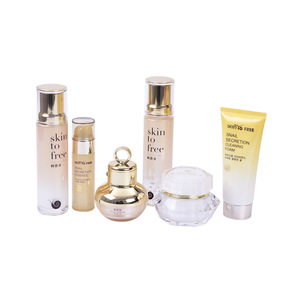 OEM face care baby korean cosmetics snail mucus skin care set