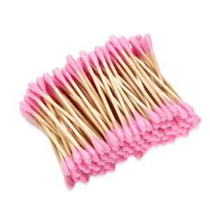 500pcs per box  Paper Bamboo Wooden Stick Make-up High-grade colored cotton swabs