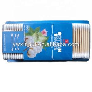 Certification ISO9001 bamboo stick 100% degreasing cotton ear swabs,cotton ear buds,cotton ear tips in the Blister packaging