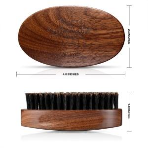 Men care Natural 100% boar bristle and Black walnut wood eco-friendly shaving brush oval beard brush