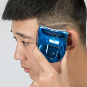 Mens home travel self-service hair clipper handheld cordless shears push hair trimmer
