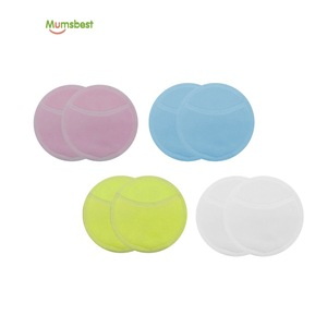 Multi-color Women Facial Care Makeup Remover Pads Organic Bamboo Cotton
