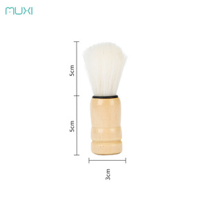 Muxi single wooden beard brush after shaving brush