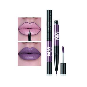 Waterproof Long Wear Matte Double End Lip Gloss And Lip Liner